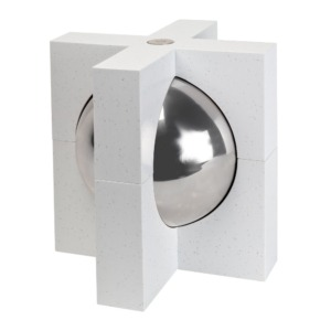 Cremation urn for ashes White Crystal