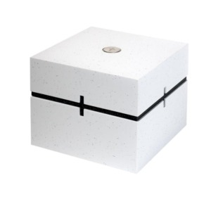 Cremation urn for ashes - White Gloria