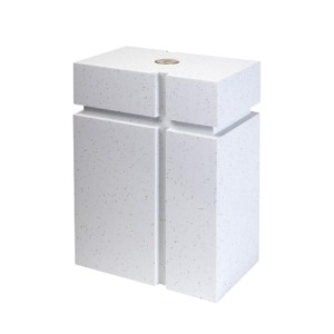 Funeral urn for ashes - White Gloria 2